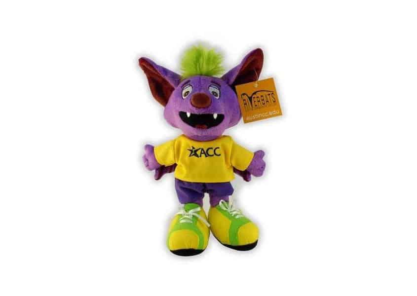 ACC Riverbat plush purple bat with tshirt