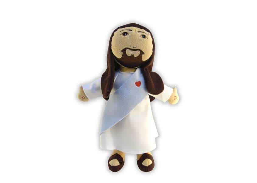 AJD Jesus plush with heart sash