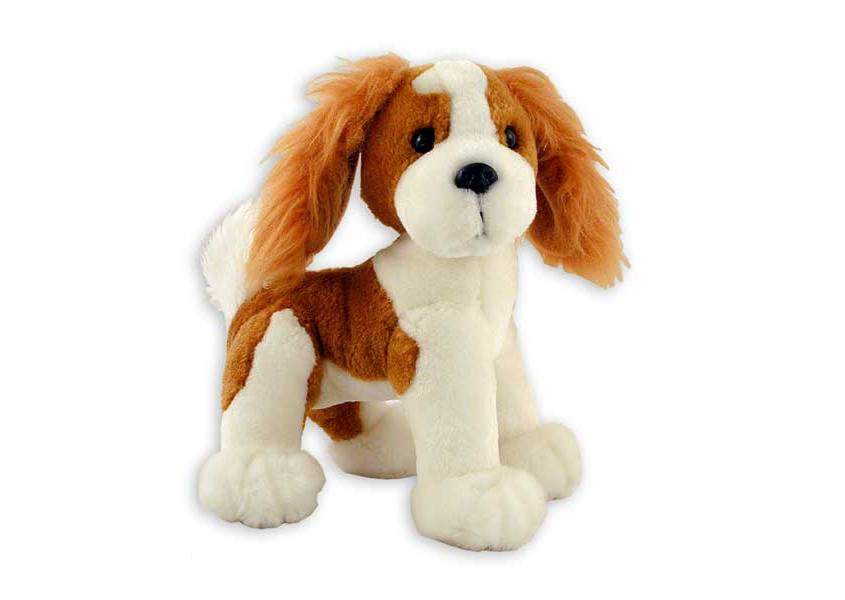 Abbey plush brown and white dog with long ears