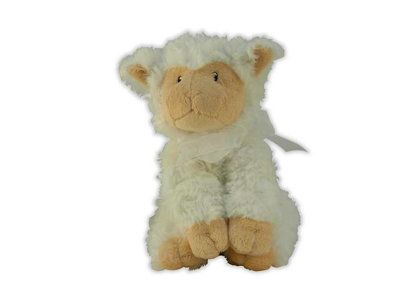 Addies Lamb plush white lamb with ribbon