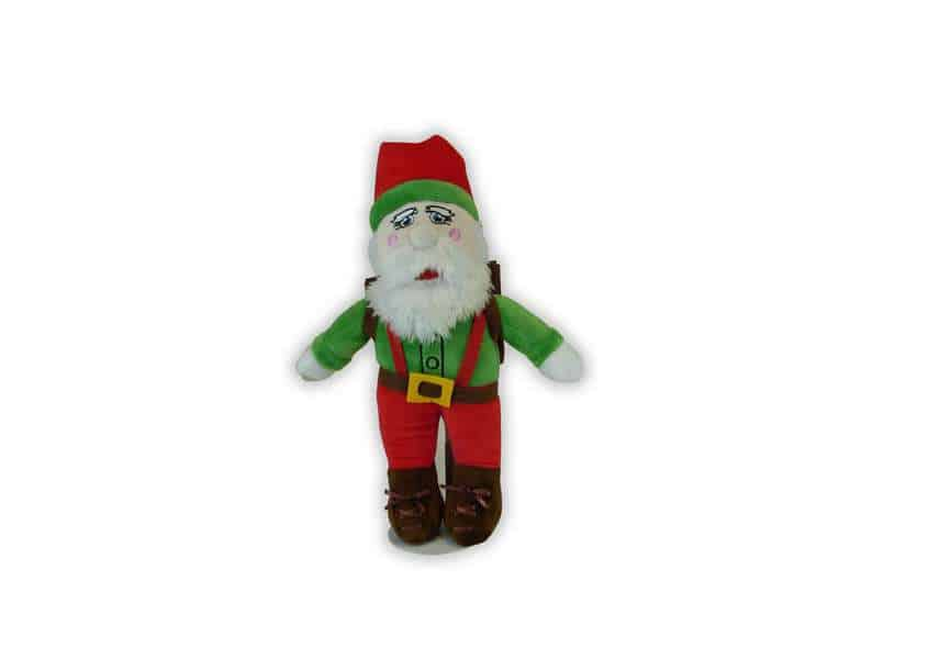 Adventure Santa plush santa doll with backpack