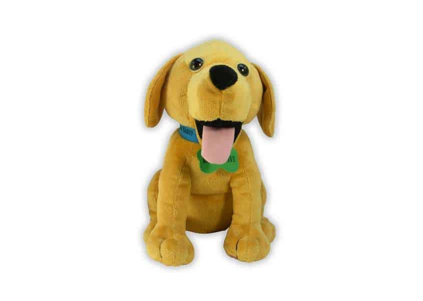 Affirmation Buddy yellow lab plush dog