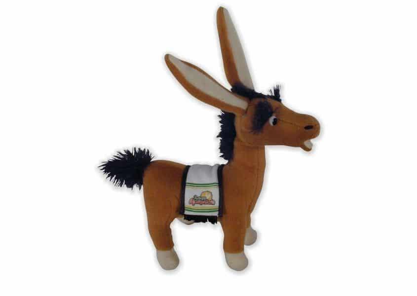 Assqual plush brown donkey