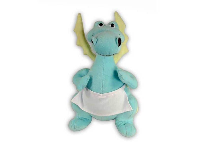 Baldricdragon blue dragon plush with wings and apron