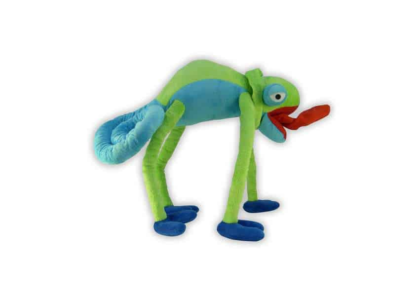 Bendable Lizard blue and green chameleon plush
