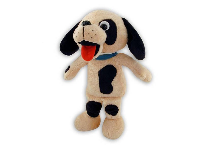 Rompy brown and black plush dog