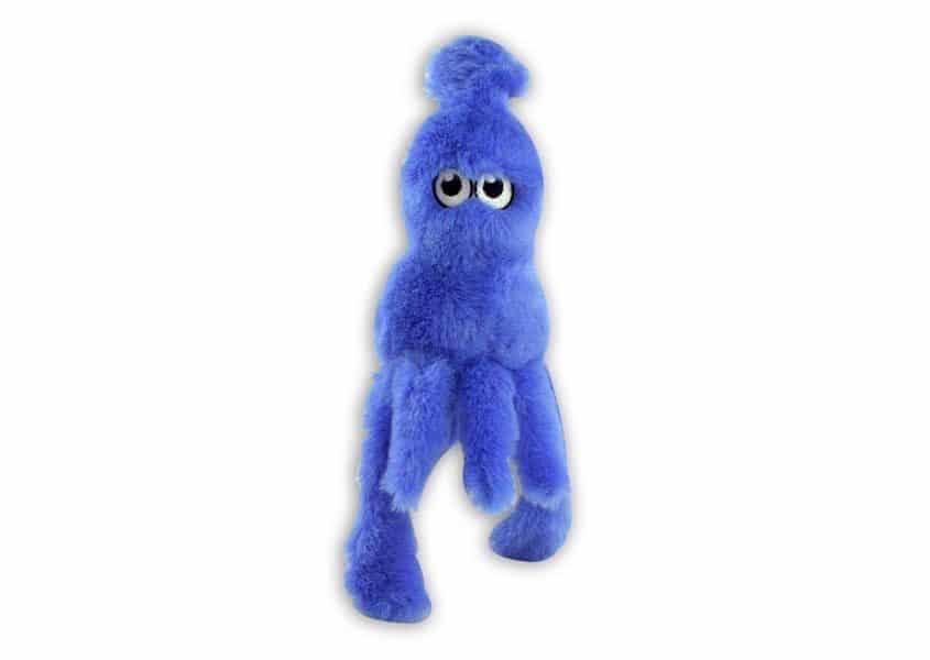 Squishy blue squid plush toy