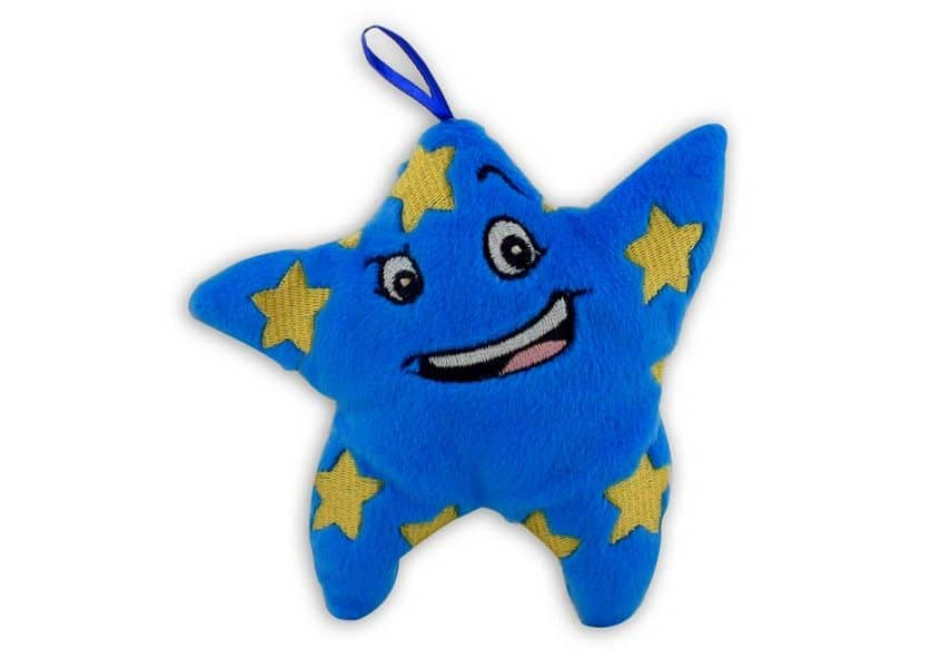 blue star character plush toy