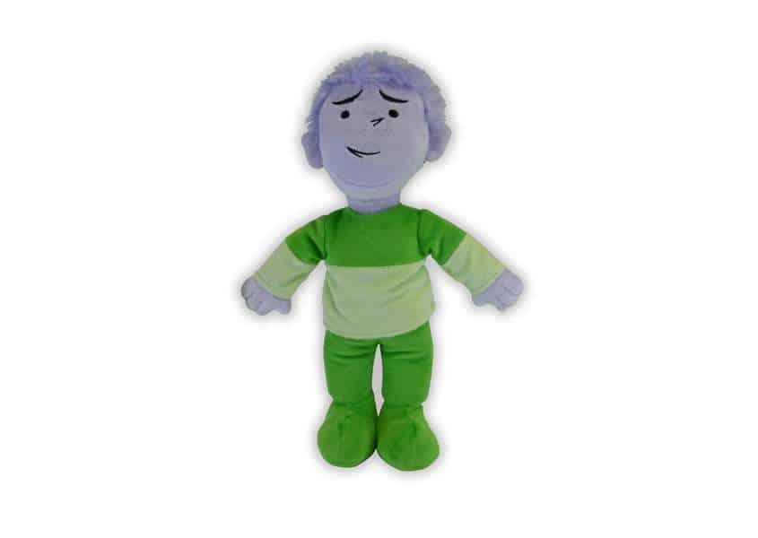 Widdle the Worrier purple plush doll