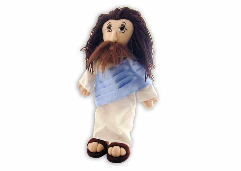 Alexa Jesus plush with purple sash