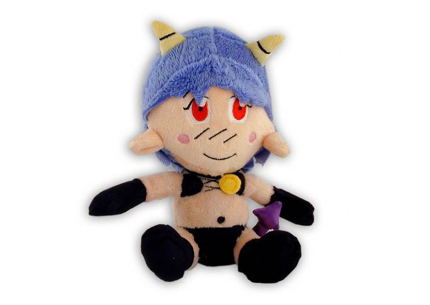 Chibi Kia plush doll with blue hair and horns