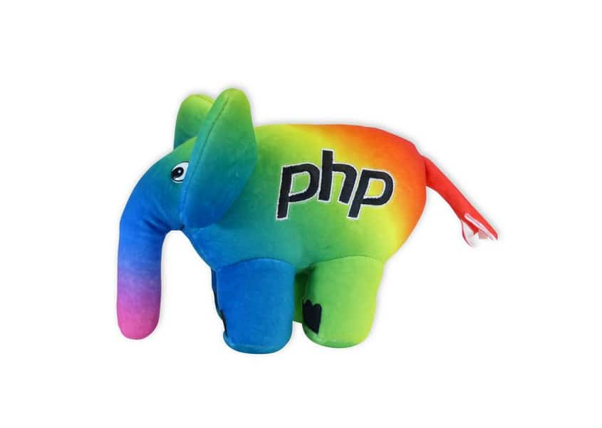 Diversity ElePHPant rainbow plush toy
