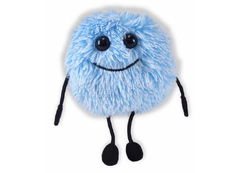 ABCYA fuzzy blue creature plush