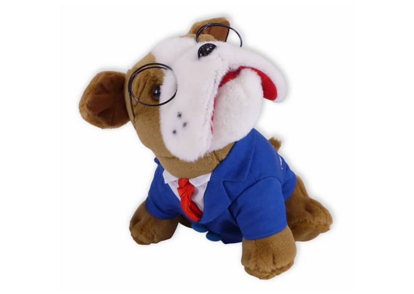 bhmi bulldog plush in a suit