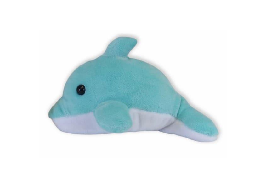 belly buddies blue dolphin plush