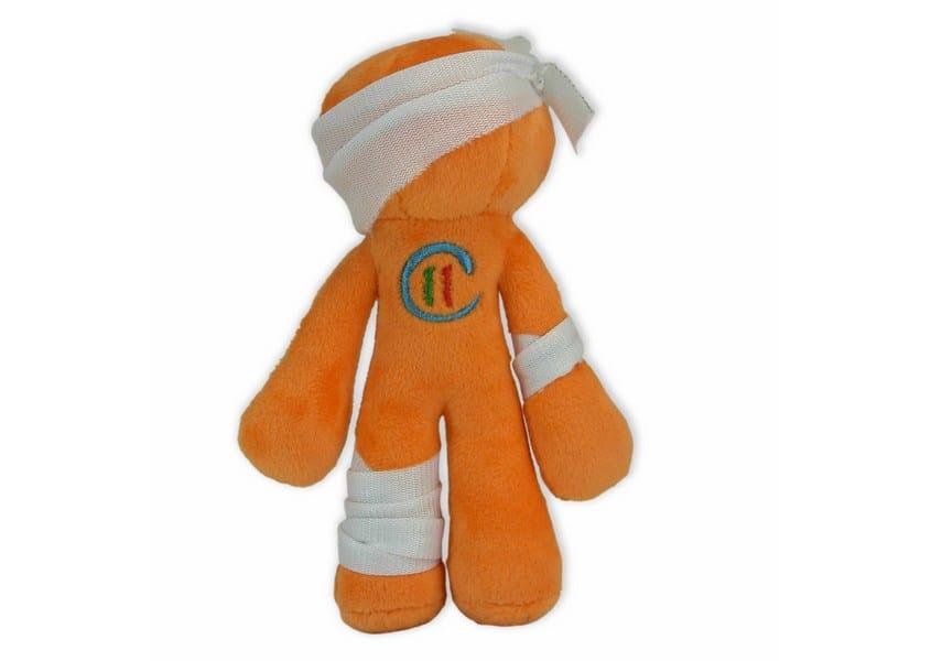Children Institute Toy - orange stick figure in bandages plush