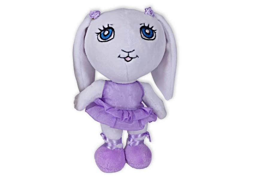 sabrina white rabbit ballerina plush