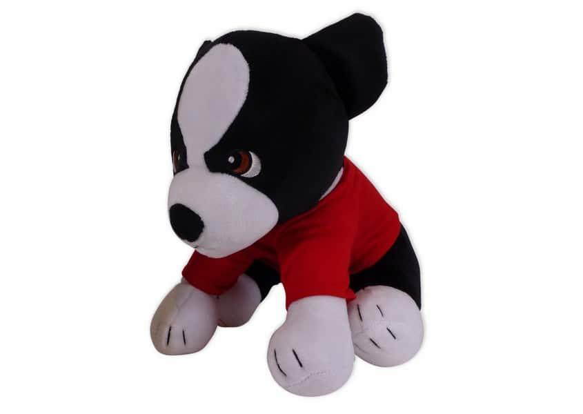 terrier black and white dog plush