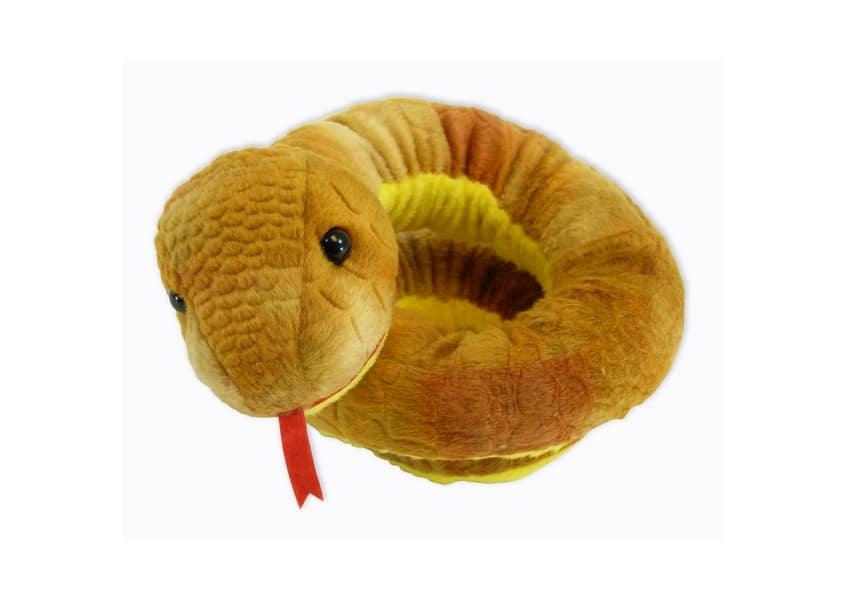 Boa yellow snake plush