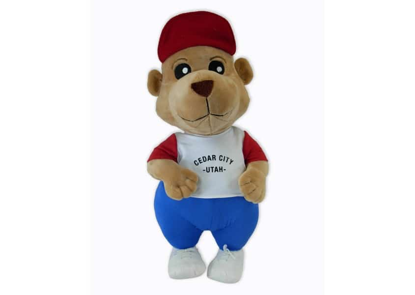 Prarie Dog plush in a baseball uniform
