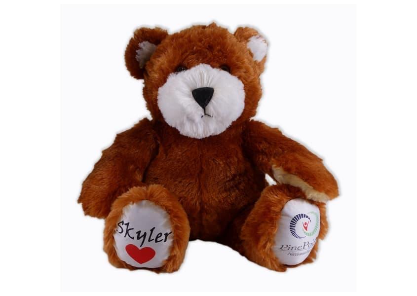 Skyler brown teddy bear plush