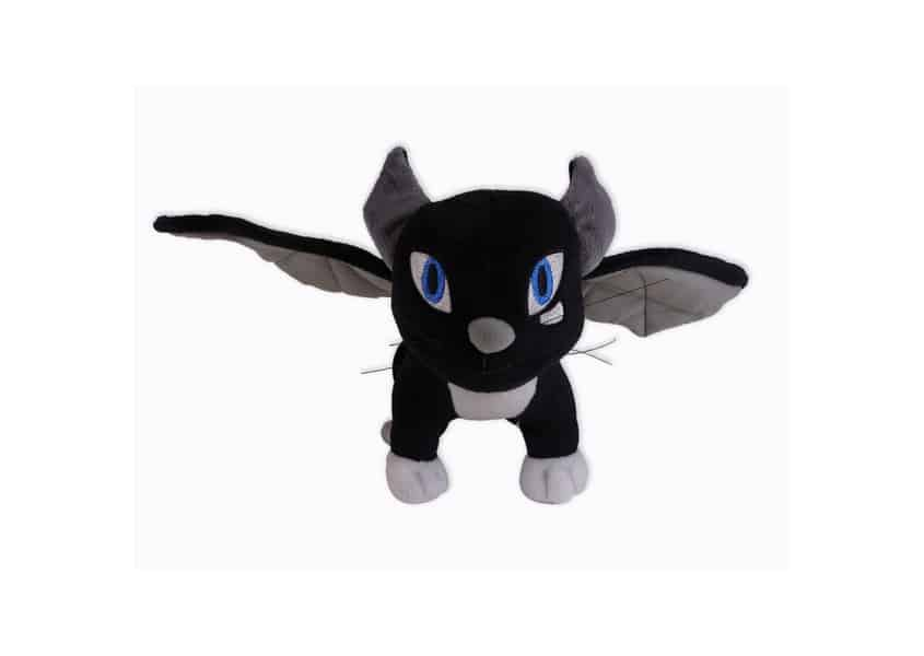 Therapy Quest black cat plush with wings